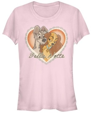 Fifth Sun Women's Lady and the Tramp Vintage-Like Valentine Short Sleeve T-shirt