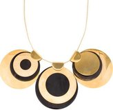 Marni Gold-tone Horn Disc Necklace