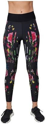 ULTRACOR Babylonia Nights Ultra High Leggings (Babylonia Nights Print Large/Patent Nero) Women's Casual Pants