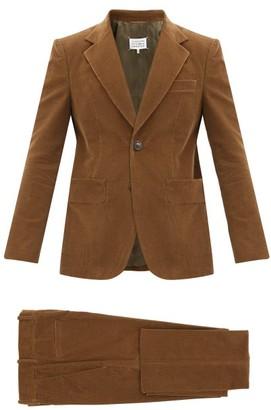 Maison Margiela Cotton-corduroy Single-breasted Suit - Brown