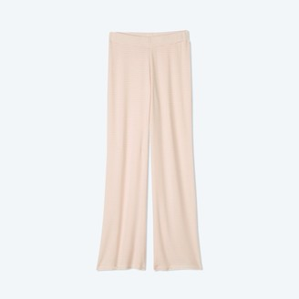 Summersalt The Softest Ribbed Wide Leg Lounge Pant - Blush & White Sand Stripe
