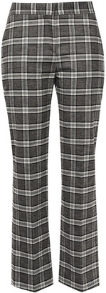 Maje Checked Tweed Straight-leg Pants