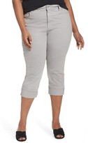 NYDJ Plus Size Women's Dayla Colored Wide Cuff Capri Jeans