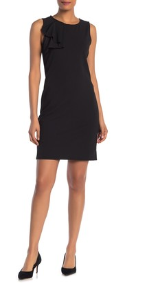Sandra Darren Sleeveless Scuba Crepe Dress
