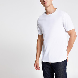 River Island White slim fit crew neck T-shirt