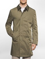 Calvin Klein X Fit Ultra Slim Fit Lightweight Olive Raincoat