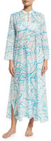Natori Abstract-Print Lounge Caftan, White Pattern