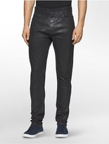 Calvin Klein Slim Leg Coated Black Jeans