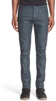 Belstaff 'Elmbridge' Slim Fit Coated Moto Jeans (Legion Blue)