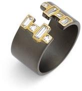 Freida Rothman 'Double Helix' Cubic Zirconia Open Ring