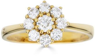 Zydo Luminal 18k Yellow Gold Round Multi-Diamond Ring, Size 7