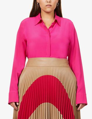 Stella McCartney Button-up crepe de chine shirt