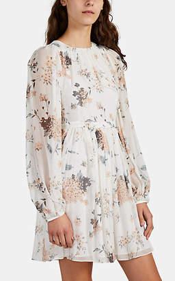 Laura Garcia Collection Women's Yasmine Floral Silk Chiffon Dress - White