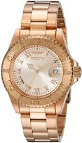 Invicta Women's 12821 Pro Diver Rose Dial Diamond Accented Watch