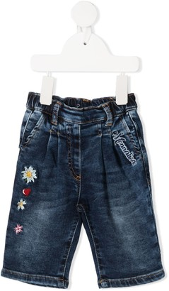MonnaLisa Floral Embroidery Jeans