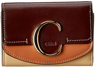 Chloé C Small Leather Trifold Wallet