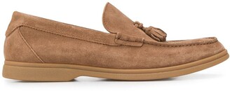 Brunello Cucinelli Tassel-Embellished Low-Heel Loafers