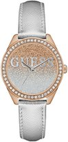 GUESS Silver and Rose Gold-Tone Iconic Sparkle Watch