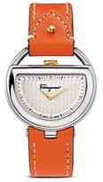Salvatore Ferragamo Stainless Steel Silver Dial Watch, 37mm