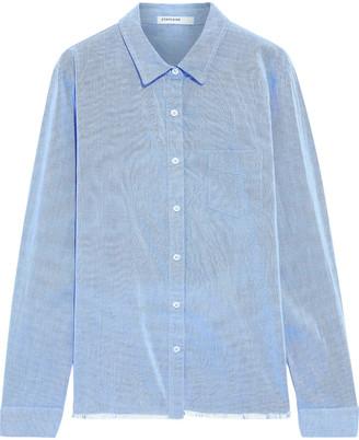 Stateside Frayed Cotton-oxford Shirt