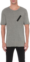 Replay Zip patch cotton t-shirt