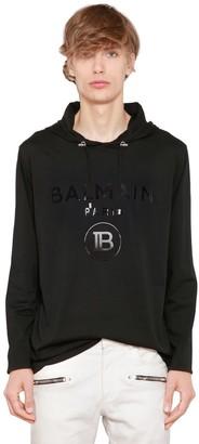 Balmain Hooded L/s Cotton Jersey T-shirt