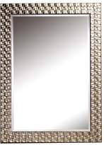 Deknudt Almeria Rect Wall Mirror PU Frame Silver Finish