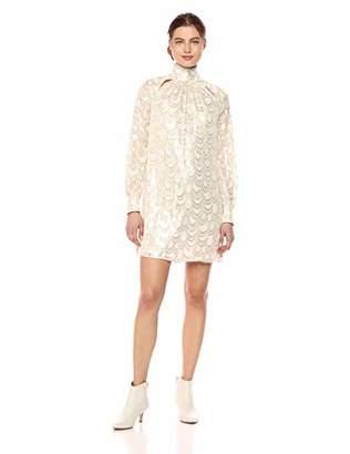 Milly Women's Silk Lurex Chiffon Long Sleeve Sherie Mini Dress