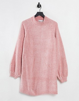 In The Style x Billie Faiers off-shoulder sweater dress in pink