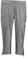 Milly Minis Childrenswear Stretch Lurex Zip Leggings, Size 8-16