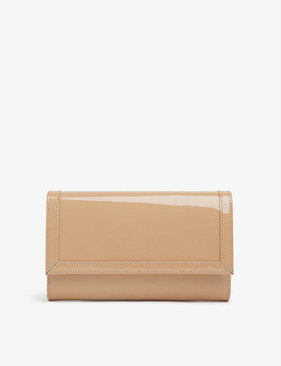 LK Bennett Dayana patent leather clutch bag