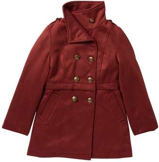 Jessica Simpson Double Breasted Military Church Coat (Big Girls)