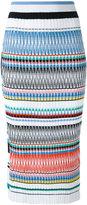 Ports 1961 striped pencil skirt - women - Cotton/Polyester/Viscose - S