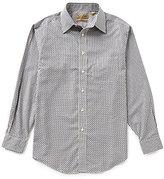 Roundtree & Yorke Gold Label Big & Tall Non-Iron Allover-Pattern Jacquard Perfect Performance Sportshirt