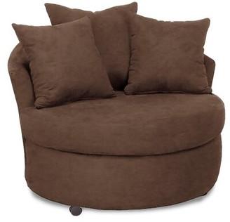 "Andover Mills Dewitt 46"" W Barrel Chair Upholstery Color: Bulldozer Java"