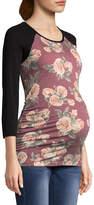PLANET MOTHERHOOD Planet Motherhood 3/4 Sleeve Scoop Neck T-Shirt-Womens Maternity