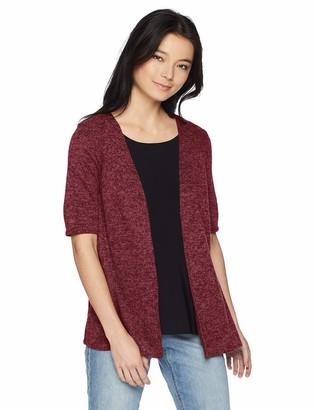 Star Vixen Women's Petite Hachi Sweater 2fer