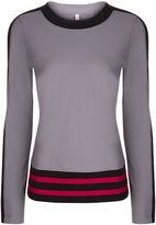 NO KA 'OI No Ka'Oi Grey Stripe Long Sleeved Nula T-Shirt