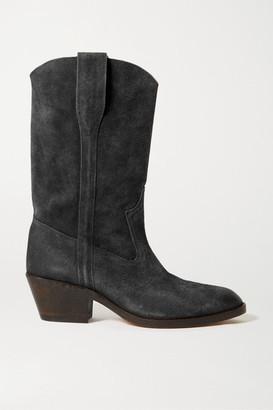 Isabel Marant Danta Suede Ankle Boots - Black