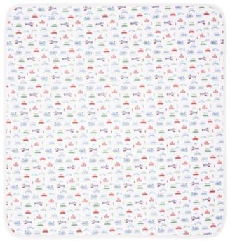 Kissy Kissy Airplane Print Blanket