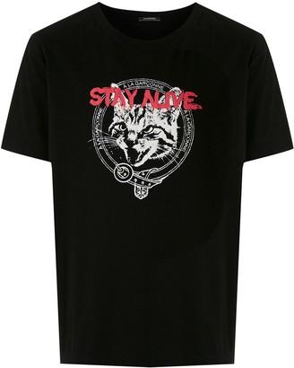 À La Garçonne cat print T-shirt