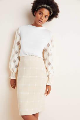 Porridge Windsor Knit Pencil Skirt