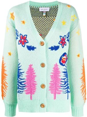 Mira Mikati Western Jacquard Embroidered cardigan