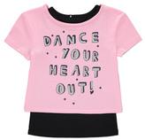 George Dance Slogan 2 Piece Top Set