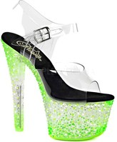 Pleaser USA Women's Crystalize 308PS Platform Ankle-Strap Sandal