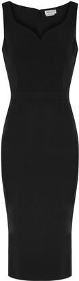Alexander McQueen Black midi dress