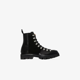 Grenson black Nanette leather lace-up boots