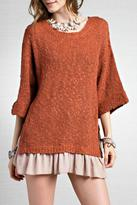 Easel Slouchy Ruffle Sweater