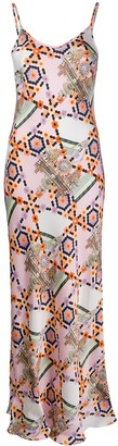 Temperley London Vivean geometric-print satin dress