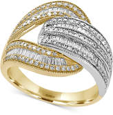 Effy Duo by EFFYandreg; Diamond Open Wrap Ring (1 ct. t.w.) in 14k Yellow and White Gold